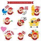Santa Claus-Zeichensätze Lizenzfreies Stockfoto