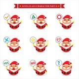Santa Claus-Zeichensätze Lizenzfreies Stockbild