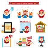 Santa Claus-Zeichensätze Stockbild