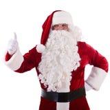 Santa Claus zeigt Geste Stockfoto