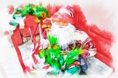 Santa Claus, Zusammenfassung lizenzfreie stockfotografie