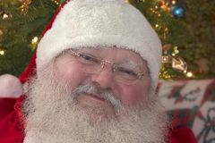 Santa Clause. Close up with a smile royalty free stock photos