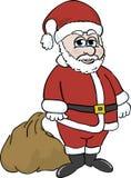 Santa Clause. Illustration of Santa Clause carying his bag of toys Royalty Free Stock Photos
