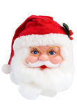 Santa Clause. Head isolated on white background royalty free stock photography
