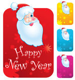 Santa Clause. New year's cards with Santa Clause Royalty Free Stock Photos