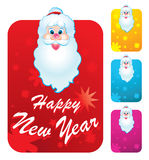 Santa Clause. New year's cards with Santa Clause Stock Image