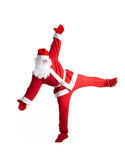 Santa Clause. Dancer white background royalty free stock image