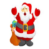 Santa clause. Very nice santa clause merry christmas royalty free illustration