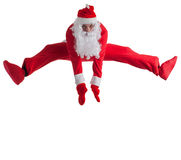 Santa Clause. Dancer white background royalty free stock photos