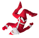 Santa Clause. Dancer white background royalty free stock images