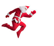 Santa Clause. Dancer white background stock image