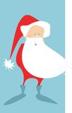 Santa clause. Old Santa clause with blue boots and light blue background Royalty Free Stock Photo