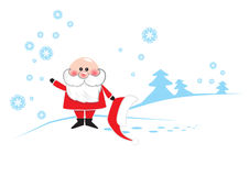 Santa Clause. Traditional Santa Clause with a smile Stock Photos