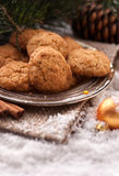 Santa Clause almond cookies Royalty Free Stock Image