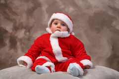 Santa clause baby Stock Images