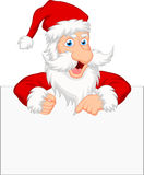 Santa clause with blank sign Stock Photography