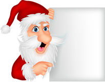 Santa clause with blank sign Royalty Free Stock Image