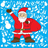 Santa clause with blue background for Christmass Day  Royalty Free Stock Photos