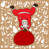 Santa clause with brown background for Christmass Day  Stock Photography