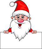 Santa clause cartoon with blank sign Royalty Free Stock Images