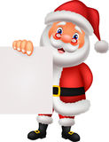 Santa clause cartoon holding blank sign Royalty Free Stock Photo