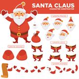 Santa Clause character constructor with spare body parts Stock Images