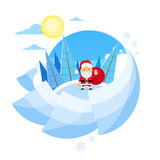 Santa Clause Christmas Cartoon Character Royalty-vrije Stock Foto's