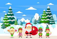 Santa Clause Christmas Elf Cartoon Character Royalty Free Stock Image