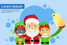 Santa Clause Christmas Elf Cartoon-Charakter Lizenzfreies Stockbild