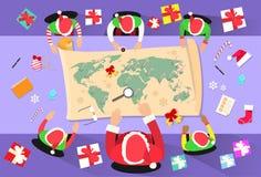 Santa Clause Christmas Elf Cartoon-Charakter Stockbilder