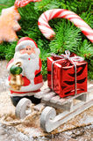 Santa Clause with Christmas gift Royalty Free Stock Photos