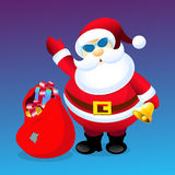 Santa Clause with Christmas gifts-. Santa Clause with Christmas gifts is a  illustration Stock Photos