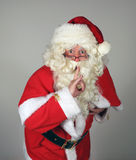 Santa Clause Dramatic. Dramatic Santa Clause gesturing quiet. Father Christmas. St Nicholas Stock Image