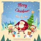 Santa Clause Elf Monkey Cartoon-Charakter-Winter Stockfotografie