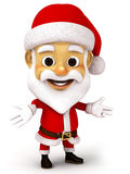 Santa clause with emotion Royalty Free Stock Image