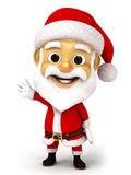 Santa clause with emotion Stock Images