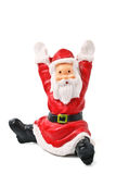 Santa Clause figurine isolated. On white Stock Photos