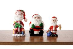 Santa Clause Figurines royaltyfria foton