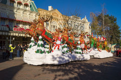 Santa clause float Royalty Free Stock Image