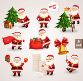 Santa Clause going to celebration Christmas Stock Images