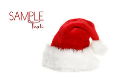 Santa Clause Hat With Copyspace Stock Photography