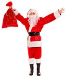 Santa Clause holding gift. Stock Photos