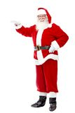 Santa Clause leaning on something Royalty Free Stock Photos