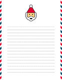 Santa Clause letterhead. Illustrated Santa Claus letterhead on lined paper with red and blue border Royalty Free Stock Image
