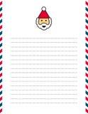 Santa Clause letterhead Royalty Free Stock Image
