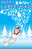 Santa clause Merry Christmas gift  Stock Photography