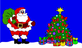 Santa Clause  at night Royalty Free Stock Photos