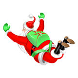 Santa Clause parachute jumper. Illustration on the theme of Christmas Royalty Free Stock Image