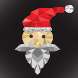 Santa clause polygon Stock Image