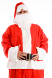 Santa clause posing with his hands on waist Royalty Free Stock Images